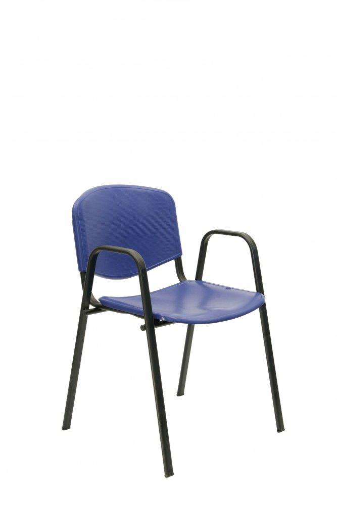 Židle konferenční - jednací - plast, područky 112/B-PL