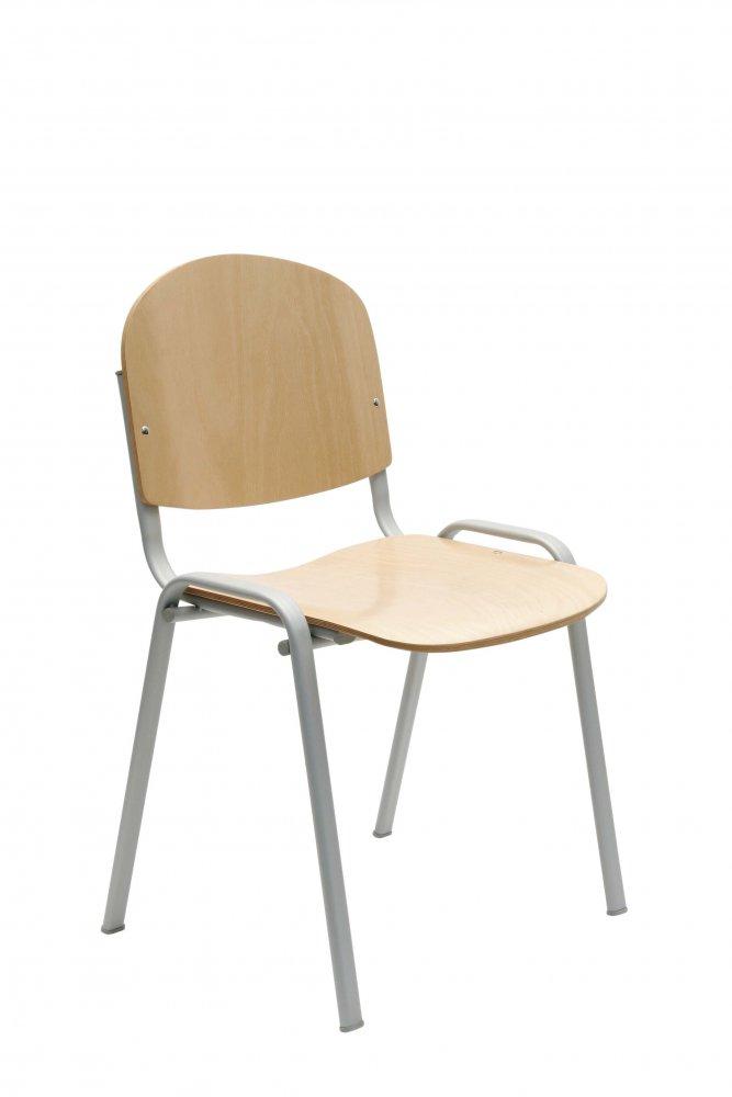 Židle konferenční, jednací - dřevo 112 SD - šedá konstrukce