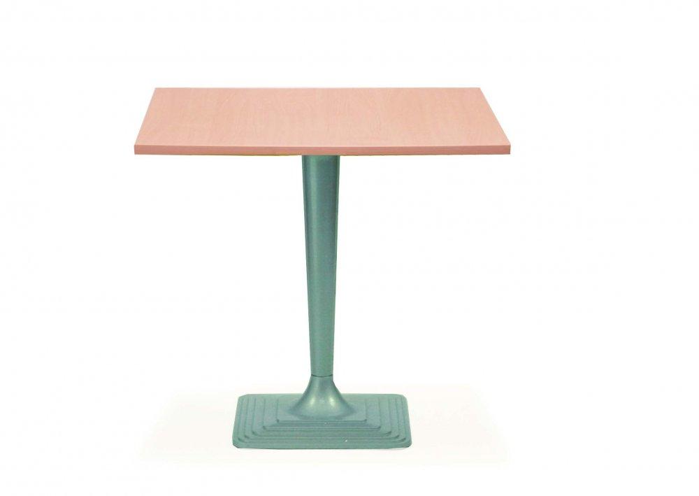 Jídelní, barový stůl čtverec KVATRO 18 80x80cm s litinovým podnožím