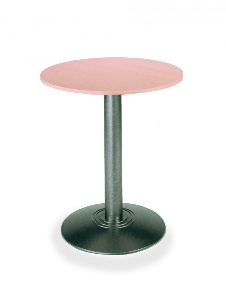 Barový stůl kovový RONDO 18 o prům. 60cm s deskou lamino