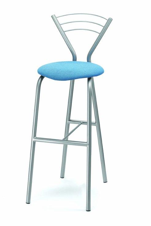 Nábytek - barová židle 435/XANDRA- kovová s čalouněným sedákem
