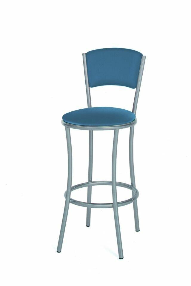 Nábytek - barová židle 457/CARMELITA - kovová, sedák a opěrák čalouněný