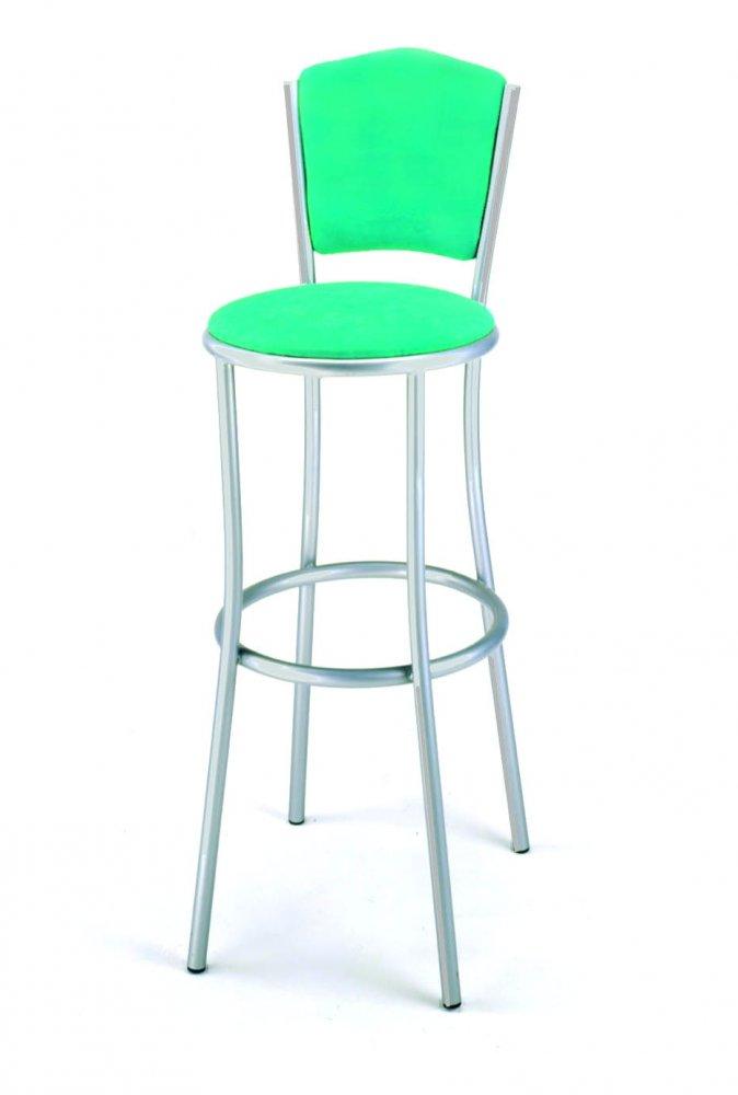 Nábytek - barová židle 468/CAPRILA - kovová, sedák a opěrák čalouněný