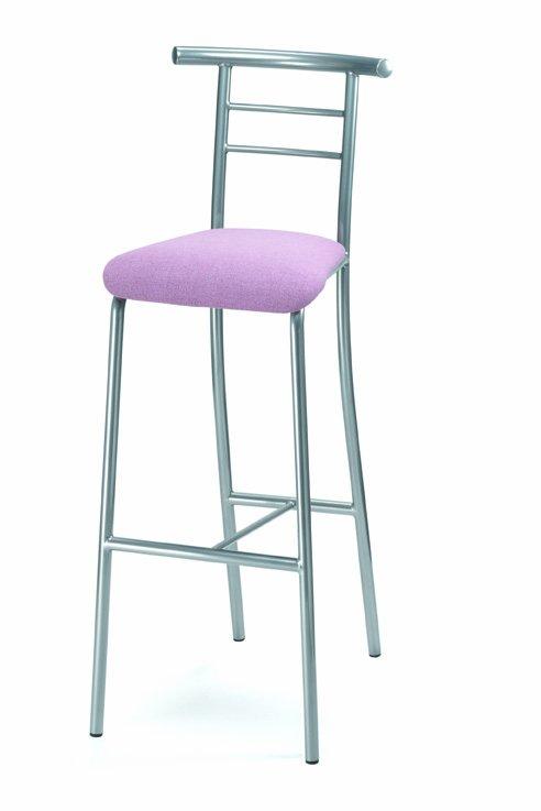 Barová židle 476/VIKTORIE - kovová, sedák čalouněný