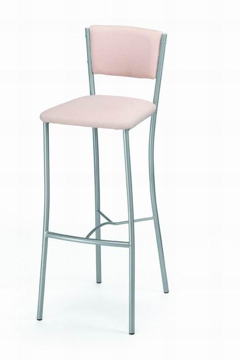 Barová židle 478/RUMBA - kovová, sedák a opěrák čalouněný