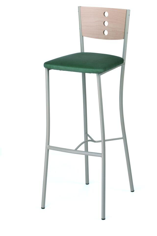 Barová židle 478.BE(3)RUMBA - kovová, opěrák buk děrovaný