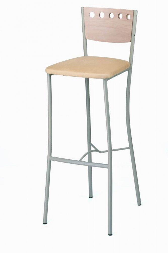 Barová židle 478.BE(5) RUMBA - kovová, sedák čalouněný