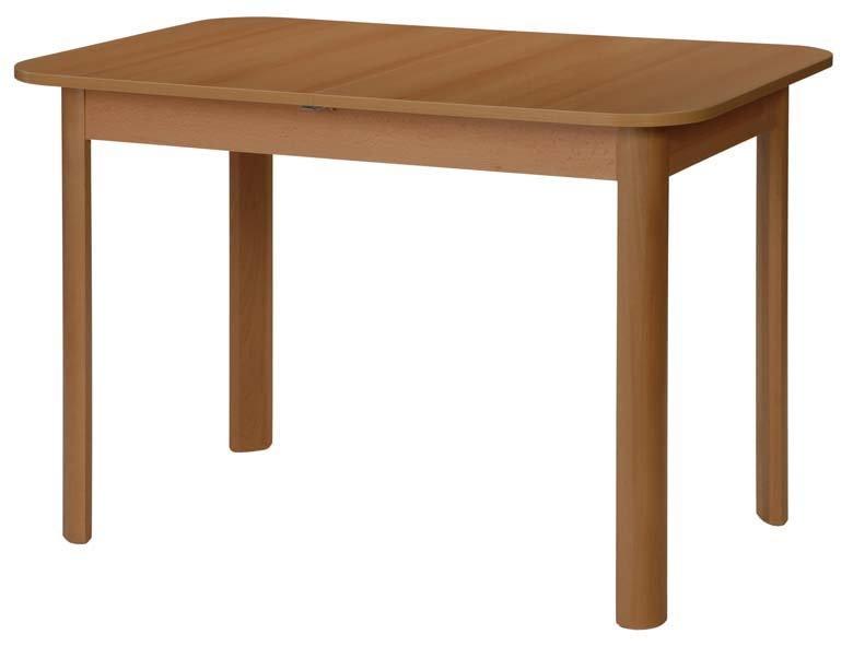 Stůl dřevěný, jídelní BONUS 110x70/+35cm - rozkládací - lamino