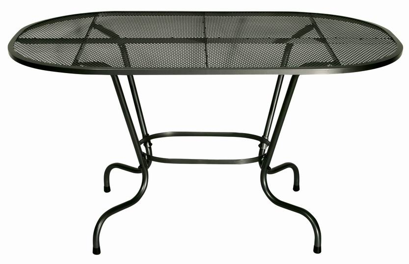 Zahradní nábytek - kovový stůl SIMPL ovál 140x90 cm