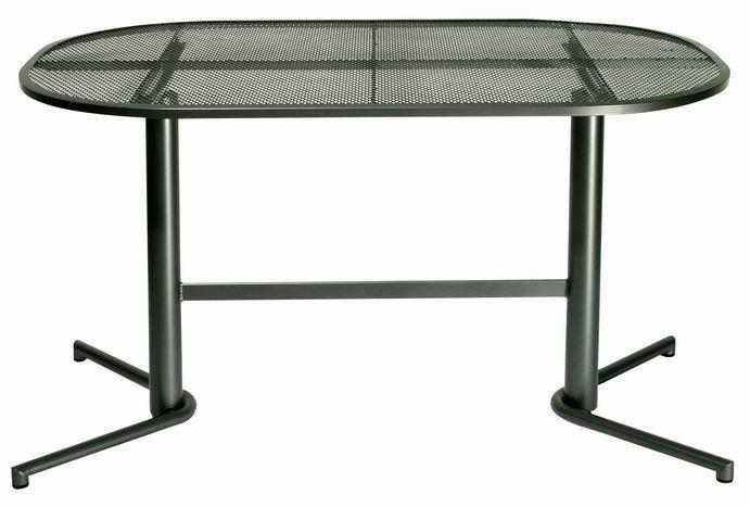 Zahraní nábytek - kovový stůl NODUS ovál 140x90 cm