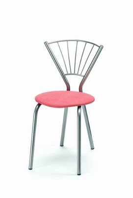 Židle jídelní, kovová 013/SOFIE - sedák čalouněný