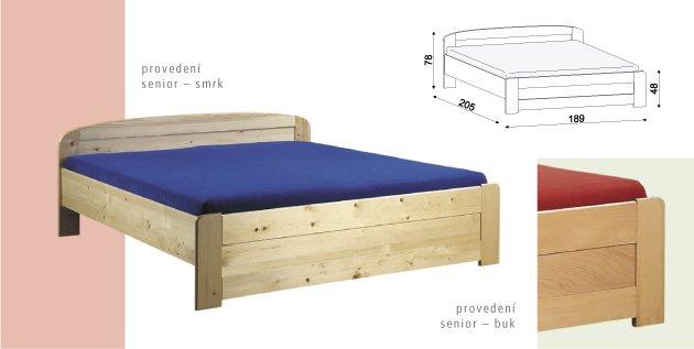 Manželská postel MAREK letiště senior - buk 180x200 AKCE