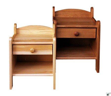 Noční stolek 218 - masiv borovice