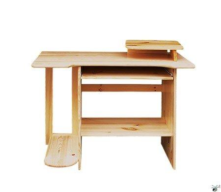 Stůl na PC 04 - masiv borovice