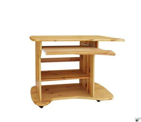 Stůl na PC 07 - masiv borovice