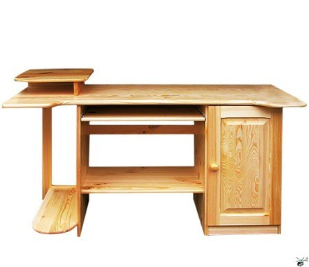 Stůl na PC 09 - masiv borovice
