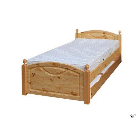 Manželská postel 118 - masiv borovice 160x200 cm