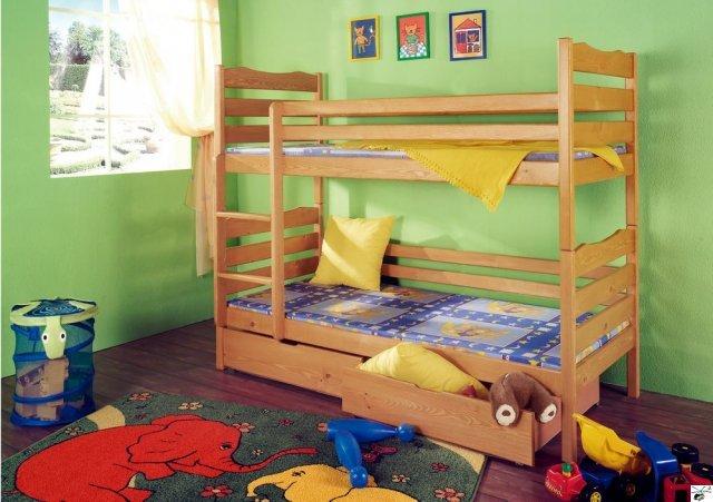 Patrová postel LUKÁŠ - včetně roštů, úložného prostoru a matrací