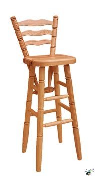 Barová židle 01 - masiv borovice