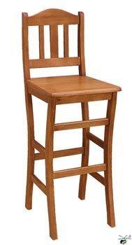 Barová židle 02 - masiv borovice