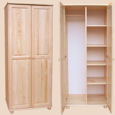 Šatní skříň 2 - masiv borovice AKCE do vyprodání zásob !