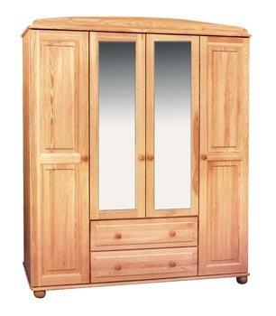 Šatní skříň 5 - masiv borovice