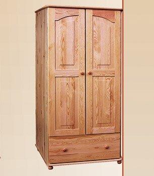 Šatní skříň 18 - masiv borovice