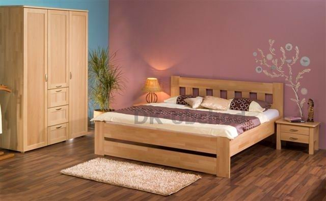 Manželská postel Filip senior buk (140x200) AKČNÍ CENA !