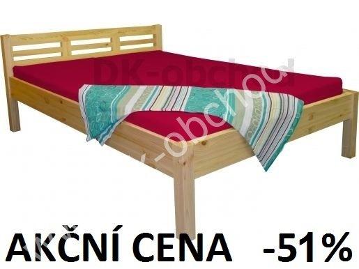 Manželská postel LEONA 4 - masiv borovice 160x200