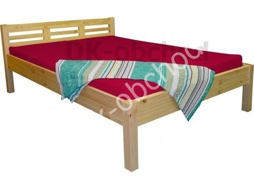 Manželská postel LEONA 4 - masiv borovice 180x200