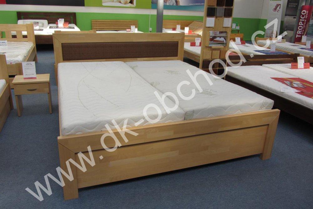 Manželská postel ANCONA - buk 122