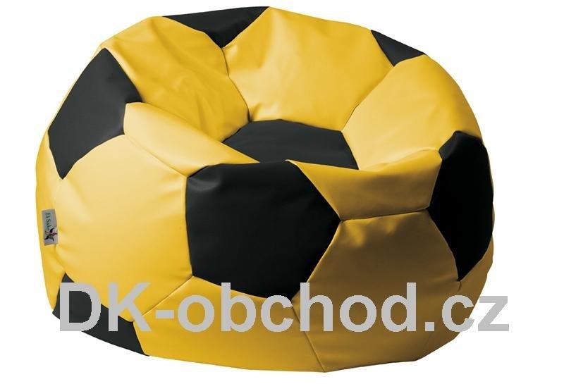 Sedací pytel fotbalový míč - žluto černý