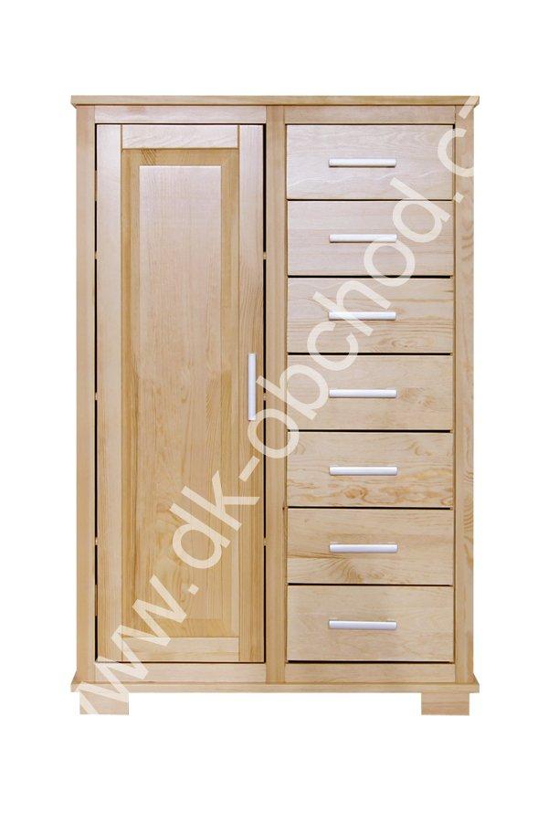 Komoda 118 - masiv borovice - 90x140