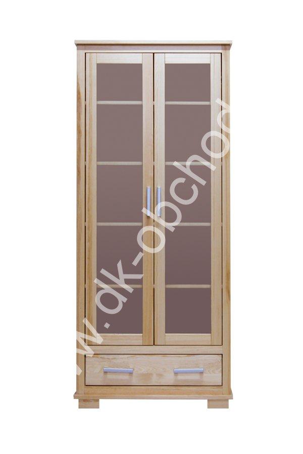 Prosklená vitrína - masiv borovice 122