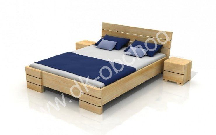 Zvýšená postel z masivu Sandemo 180x200 - high