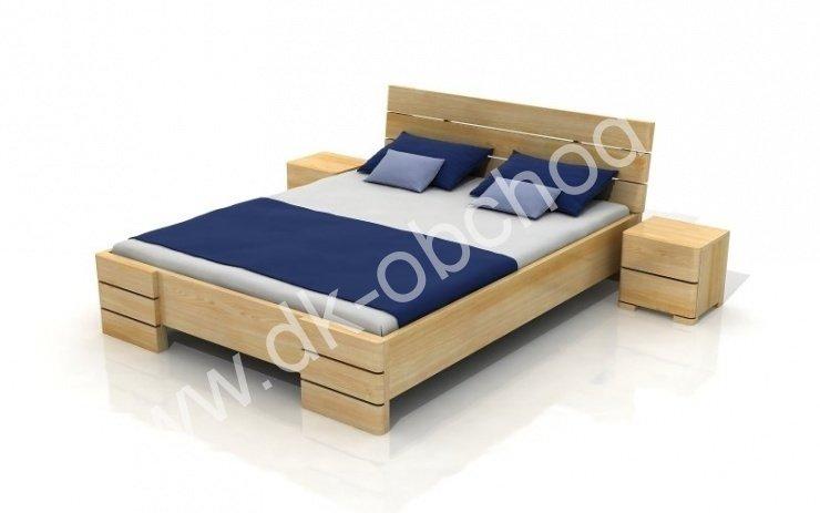 Zvýšená postel z masivu Sandemo 200x200 - high