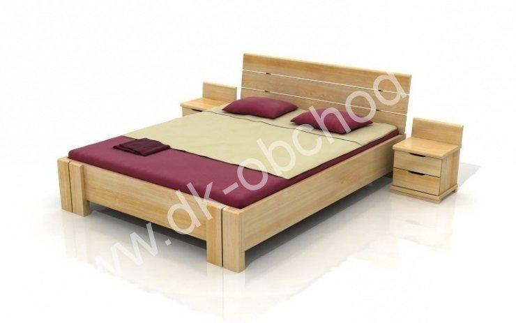 Zvýšená postel z masivu Arhus 200x200 - high