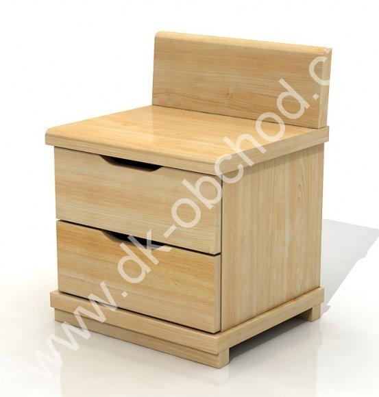 Noční stolek z masivu Arhus high 2S