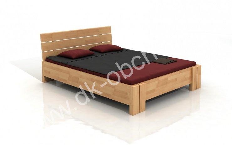 Buková zvýšená postel z masivu Arhus 200x200 - high