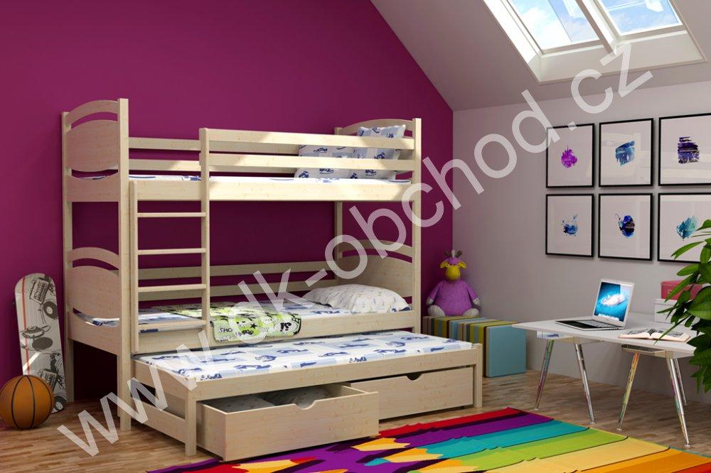 Patrová postel pro tři Tornádo 2