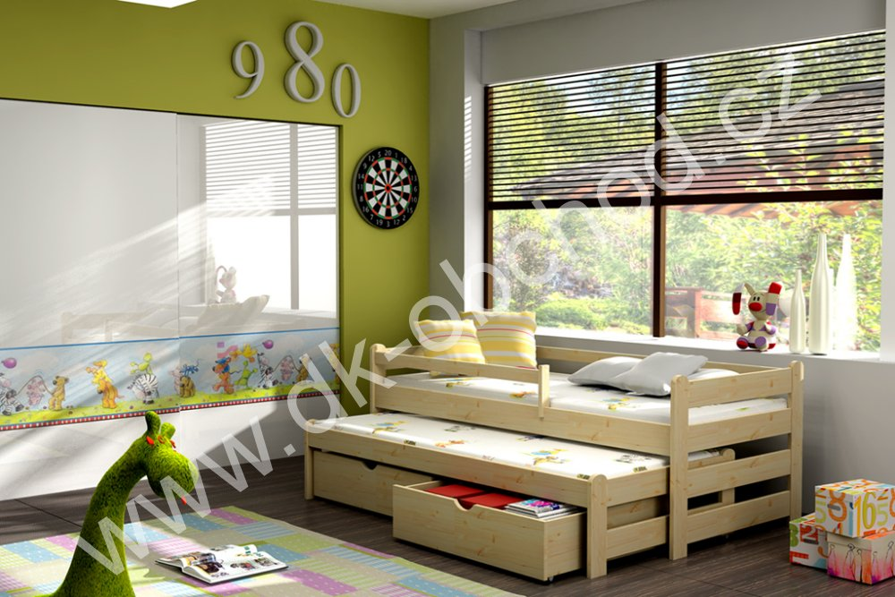 Dětská postel s přistýlkou Alex