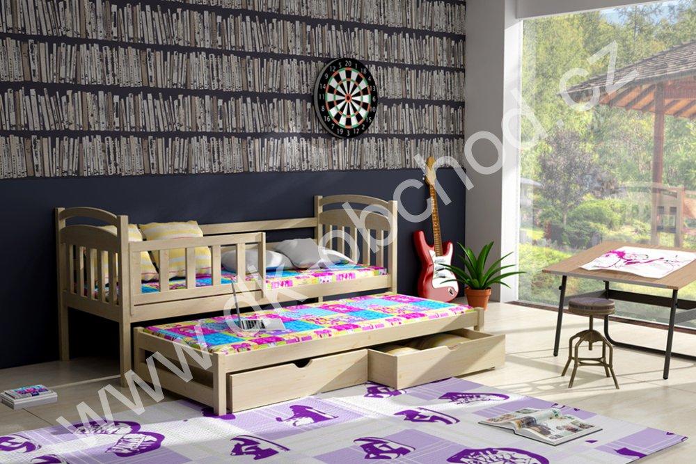 Dětská postel s přistýlkou Kubuš 2