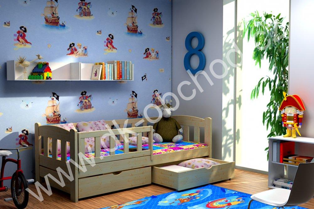 Dětská postel s úložným prostorem Bolek