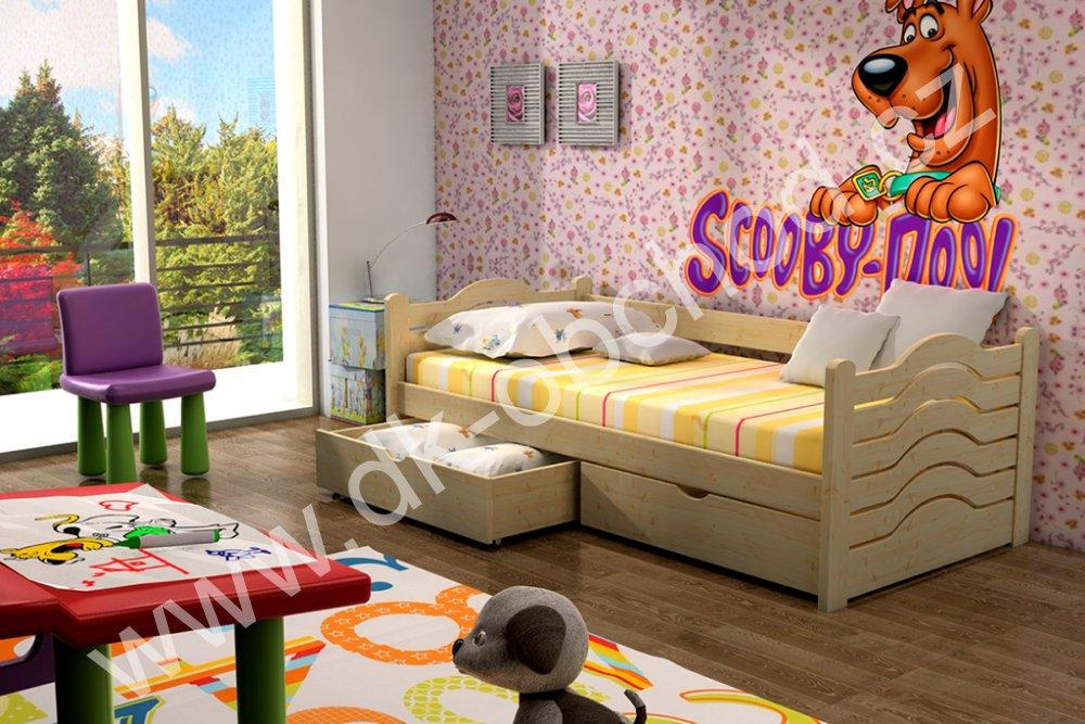 Dětská postel s úložným prostorem Pinokio