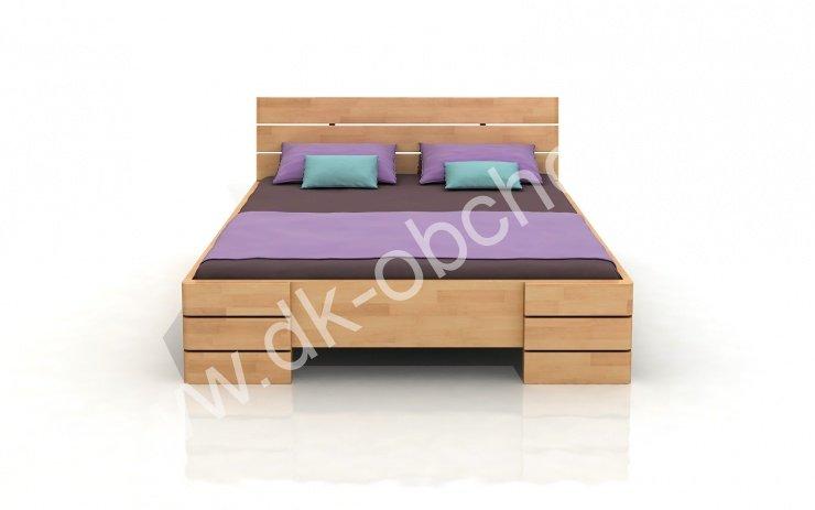 Buková zvýšená postel z masivu Sandemo 200x200 - high