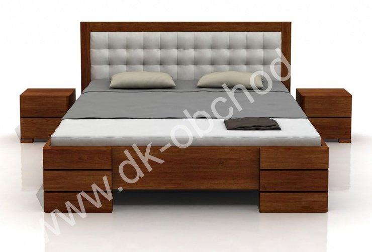 Zvýšená postel z masivu Gotland 200x200 - high