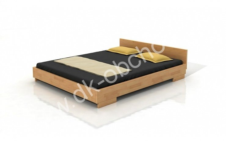 Buková postel z masivu Bergman 180x200