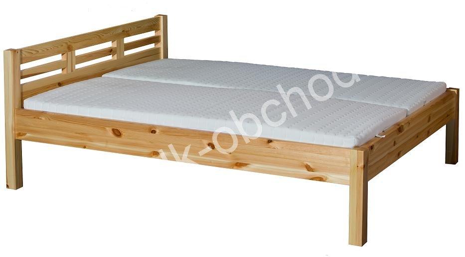 Manželská postel LEONA 4 - masiv borovice 200x200