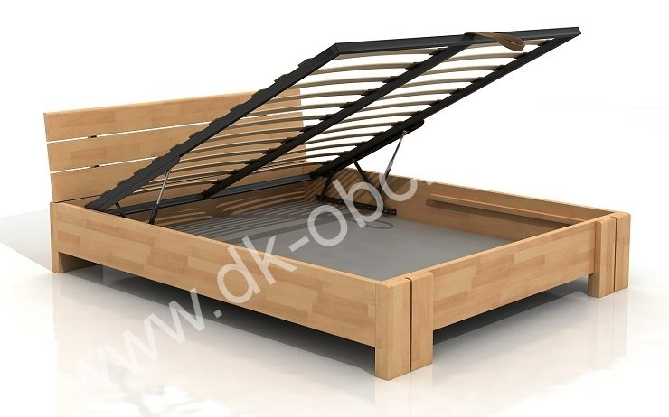 Buková zvýšená postel s úložným prostorem z masivu Arhus 180x200 - high