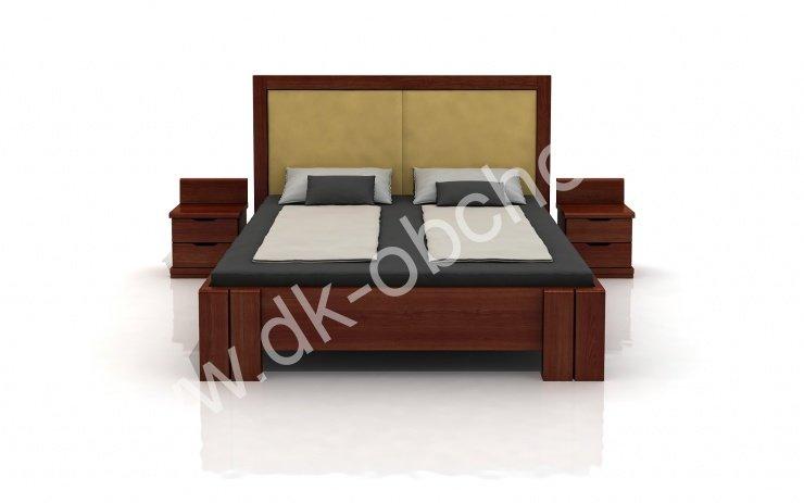 Zvýšená postel z masivu Kronoberg 200x200 - high